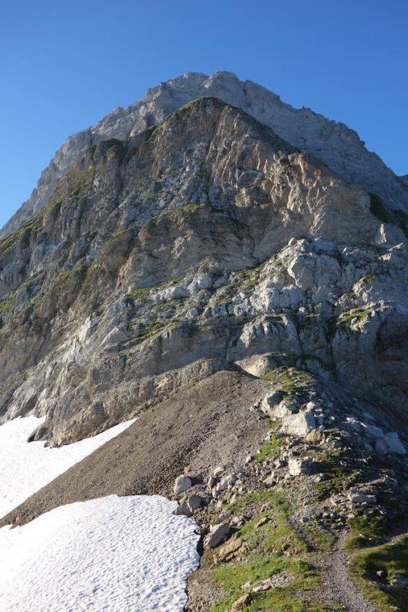 Die Flieswand vom Rotsteinpass