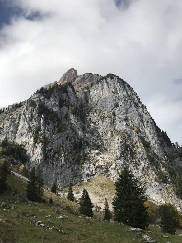 Sicht auf den Grossen Mythen von der Holzegg
