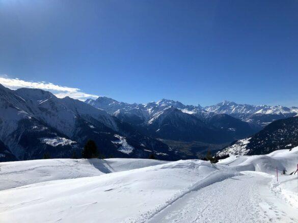 Panorama auf die Walliser Alpen
