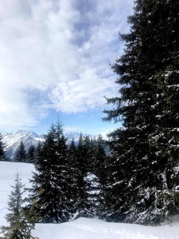 Verschneite Landschaft bei Bettmeralp