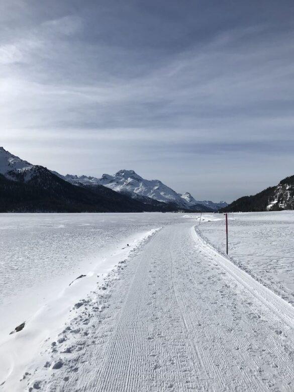 Winterwanderweg am Silvaplanersee