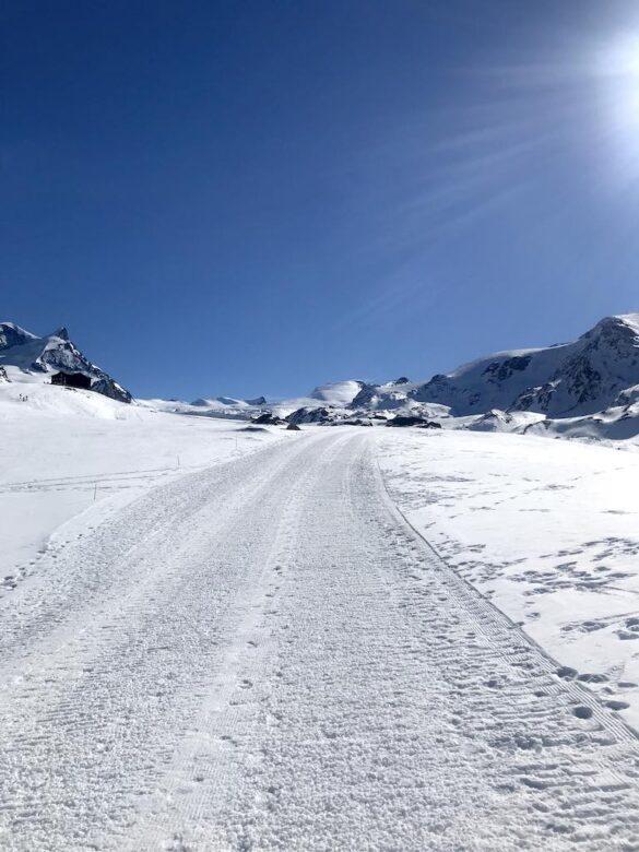 Winterwanderweg bei Blauherd