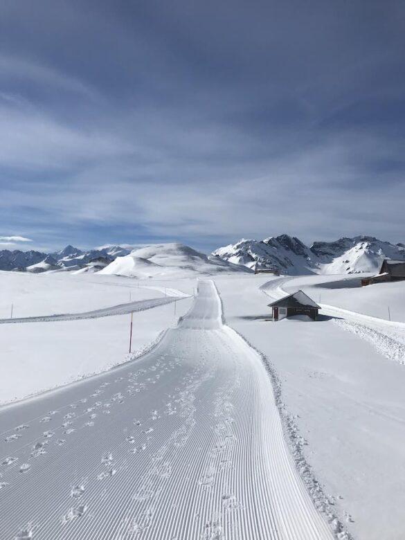 Winterwanderweg bei Tannalp