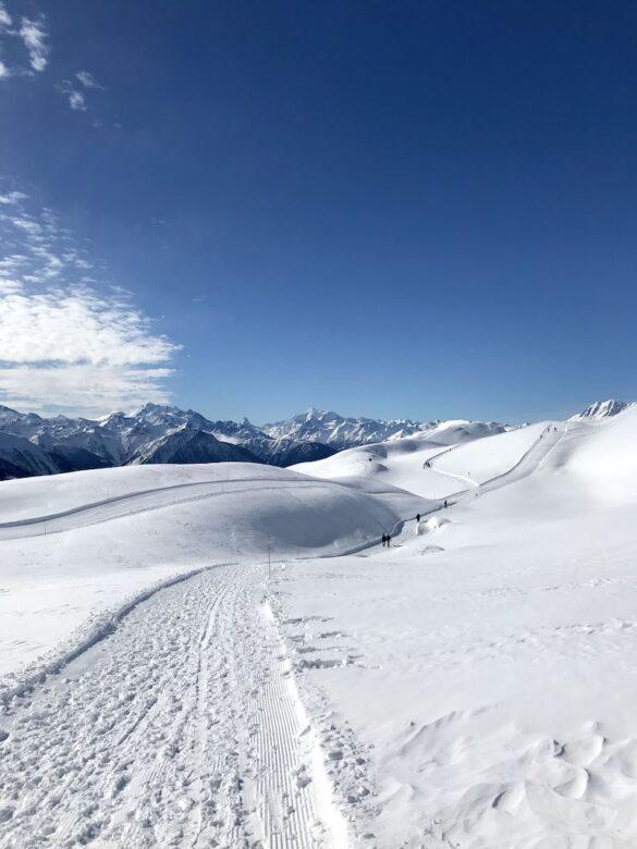 Winterwanderweg bei der Fiescheralp