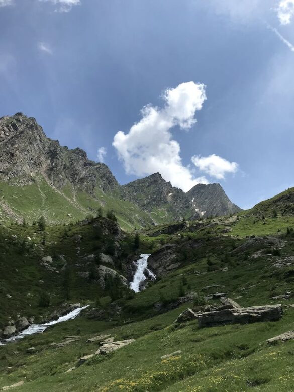 Der Bach Cristallina bei der Alp Cristallina