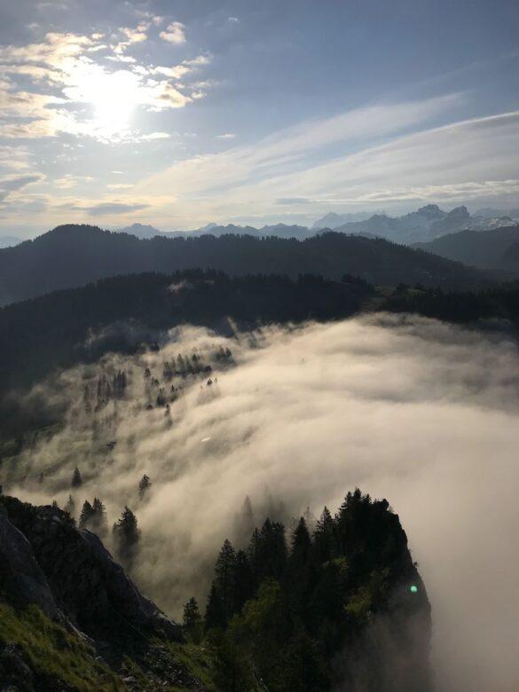 Nebel über der Holzegg