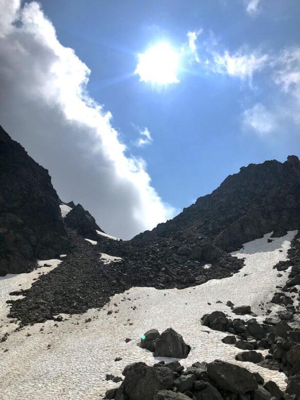 Schneefeld bei Bocchetta di Val Maggia
