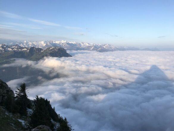 Sicht auf das Nebelmeer