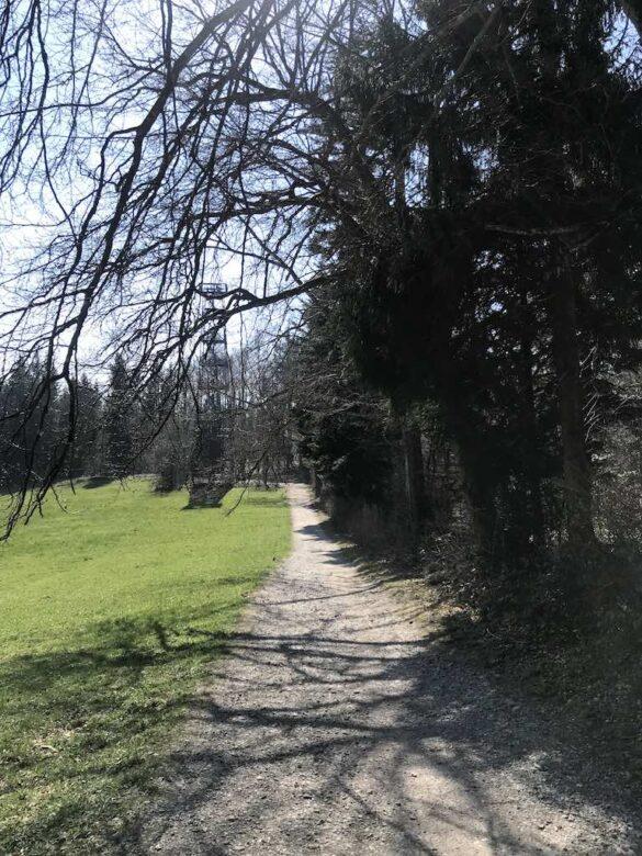 Wanderweg beim Aussichtsturm Pfannenstiel
