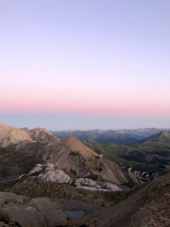 Morgenstimmung Wildstrubelhütte