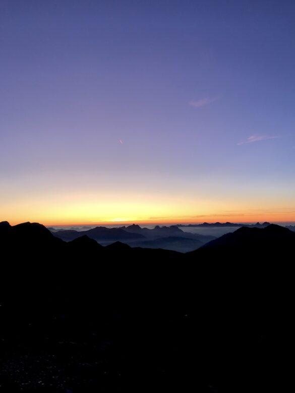 Sonnenuntergang Wildstrubelhütte