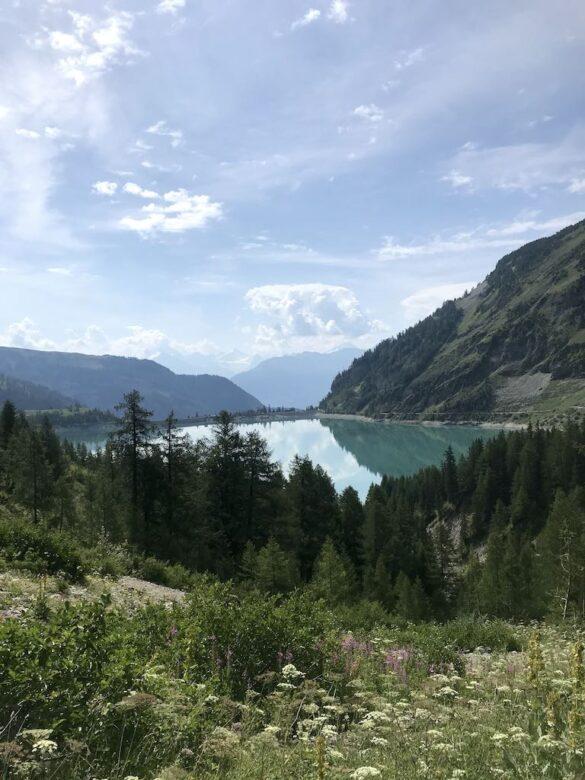 Blick über den Lac de Tseuzier