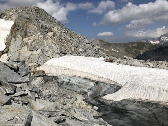Gletscherüberbleibsel Ronggergrat