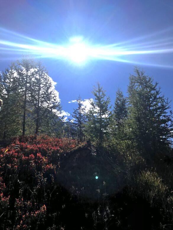 Herbstsonne im Lötschental