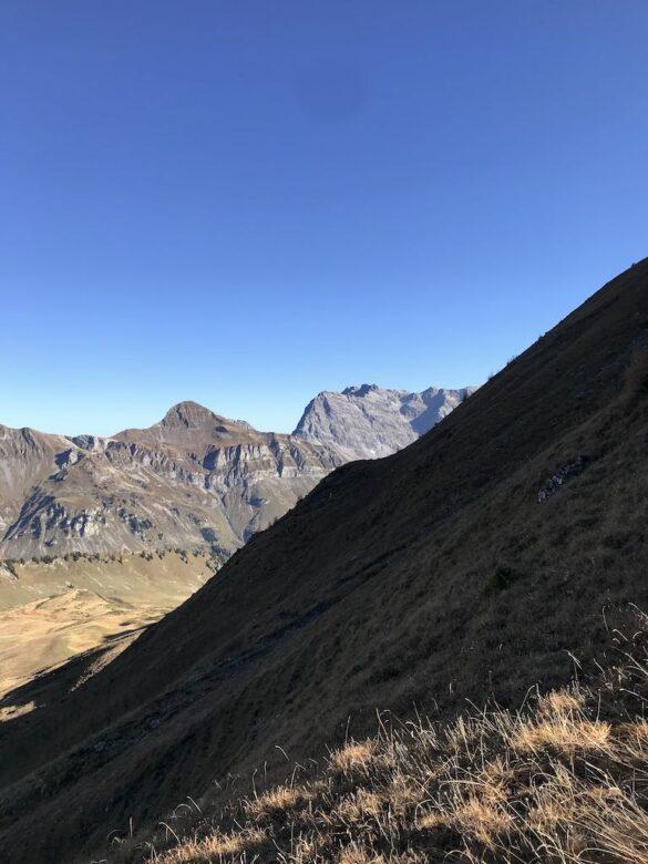 Steiles Gelände am Vilan