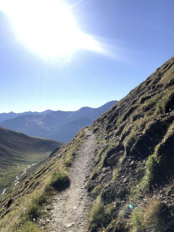 Wanderweg im Val d'Es-cha