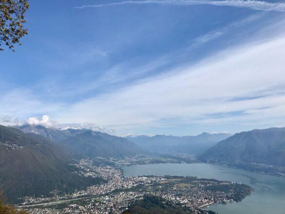 Aussicht auf Ascona und Locarno
