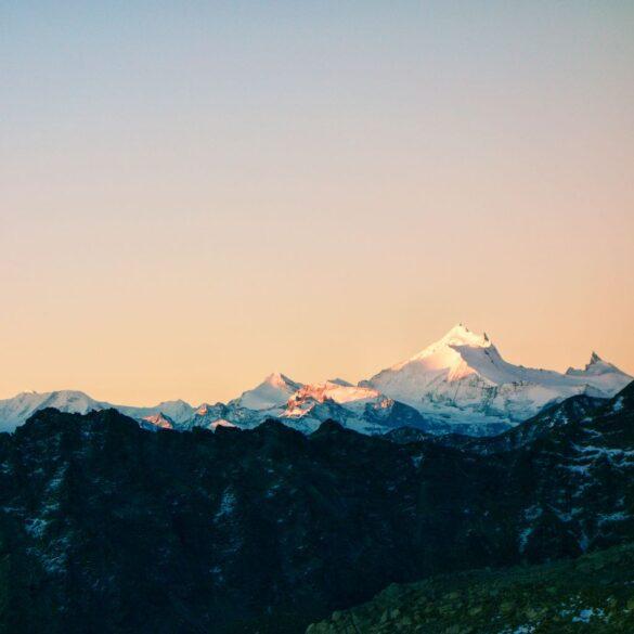 Das Weisshorn im Morgenrot