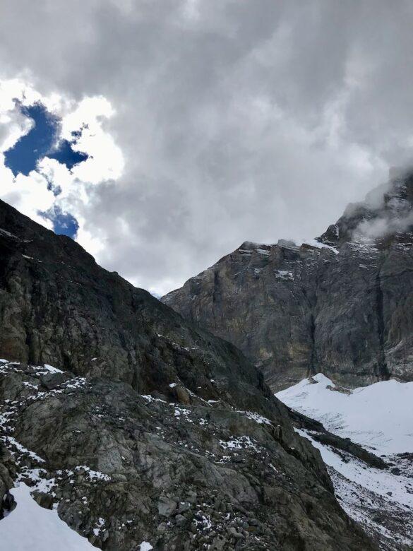 Felswand vor dem Lötschenpass